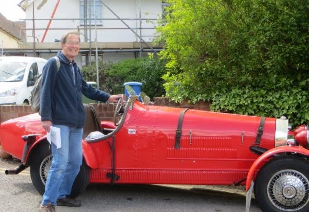 Mike Aldridge and car