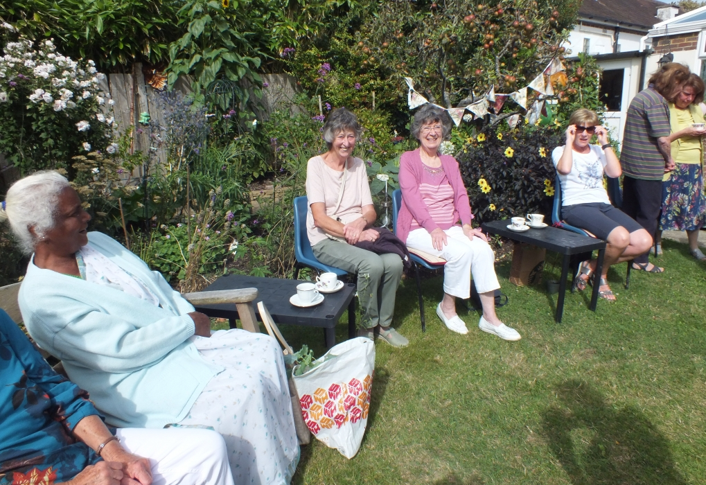 60th anniversay tea in the garden